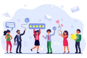 Viel positives Feedback von Kunden