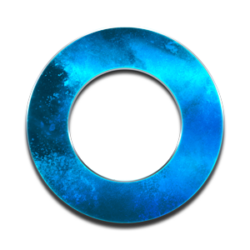blue circle in metal optics, symbol for bluvisio_managed