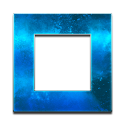 blue square in metal optics, symbol for bluvisio_expertise