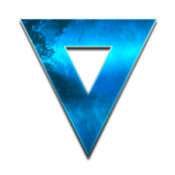 blue triangle in metal optics, symbol for bluvisio_systems