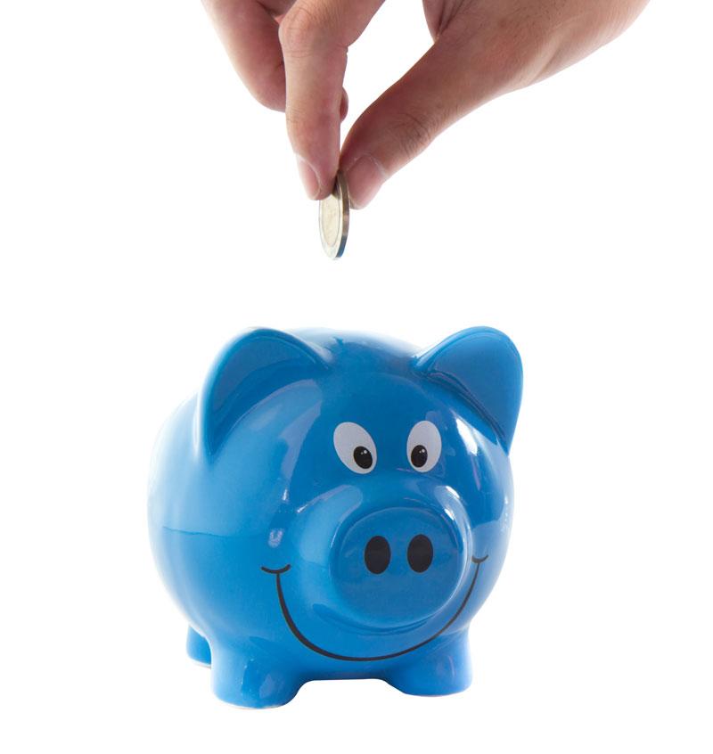 Savings fill up the piggy bank